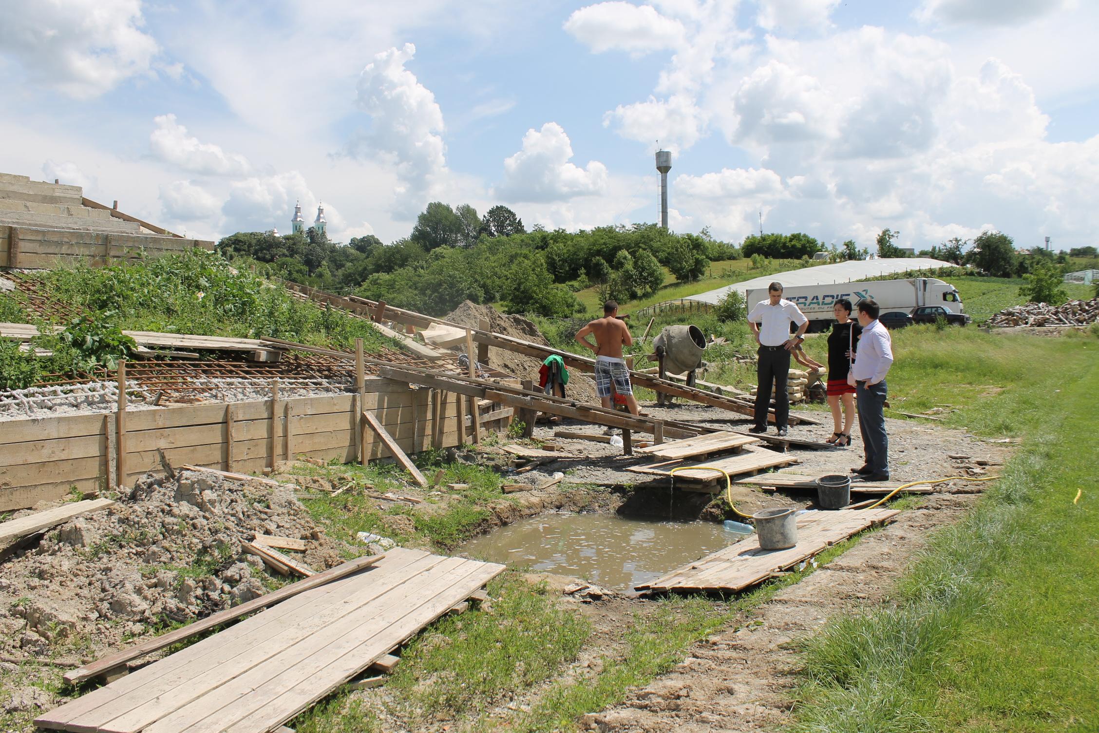 На Виноградівщині будують новий стадіон