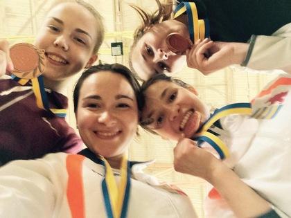 Закарпатські рапіристки отримали бронзові нагороди чемпіонату України