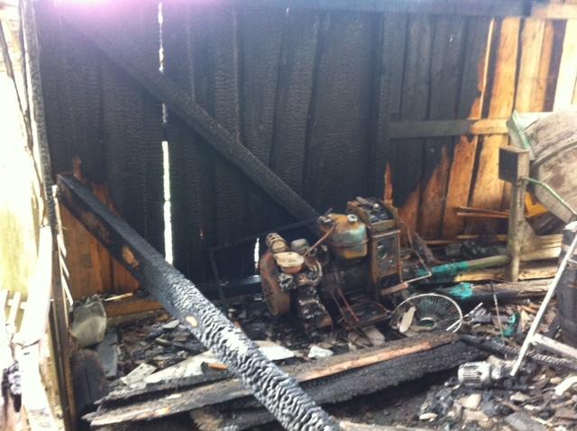 На Тячівщині в одному з ресторанів згоріла дроварня