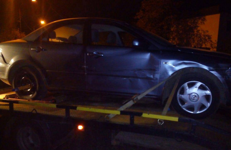 """Знайдено """"Мазду"""", на якій водій втік з місця ДТП за участі чотирьох автівок"""