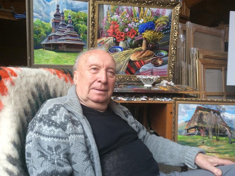 """На Закарпатті живе і творить геніальний художник, картини якого свого часу дарували """"сильним світу цього"""""""