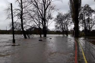 В Ужгороді вода підтопила дитячу залізницю