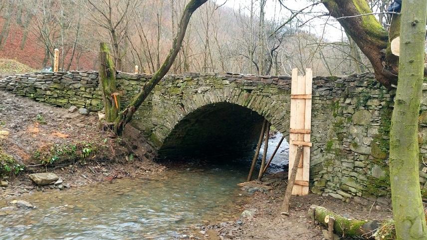 На Великоберезнянщині реставрують унікальний в Україні арковий міст римського стилю