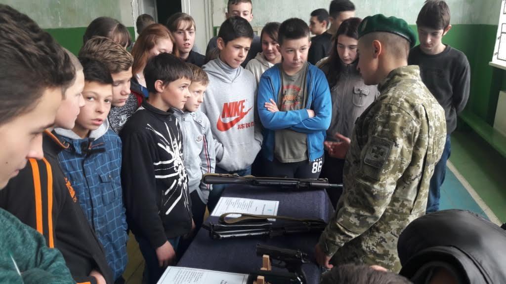 До вихованців школи-інтернату завітали прикордонники Мукачівського загону