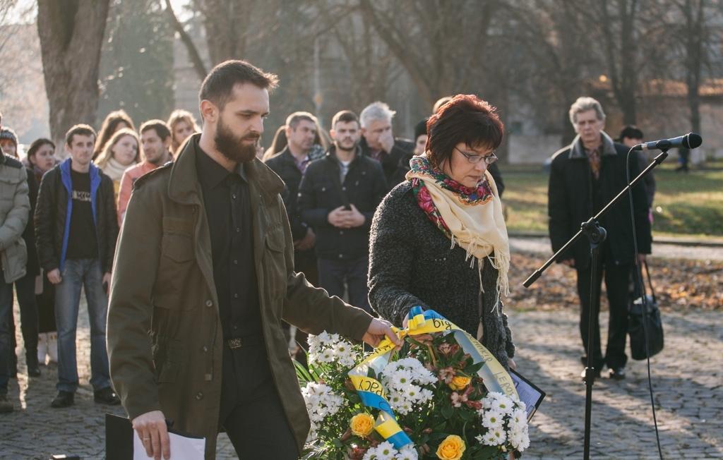 В Ужгороді вшанували пам'ять загиблих учасників Євромайдану