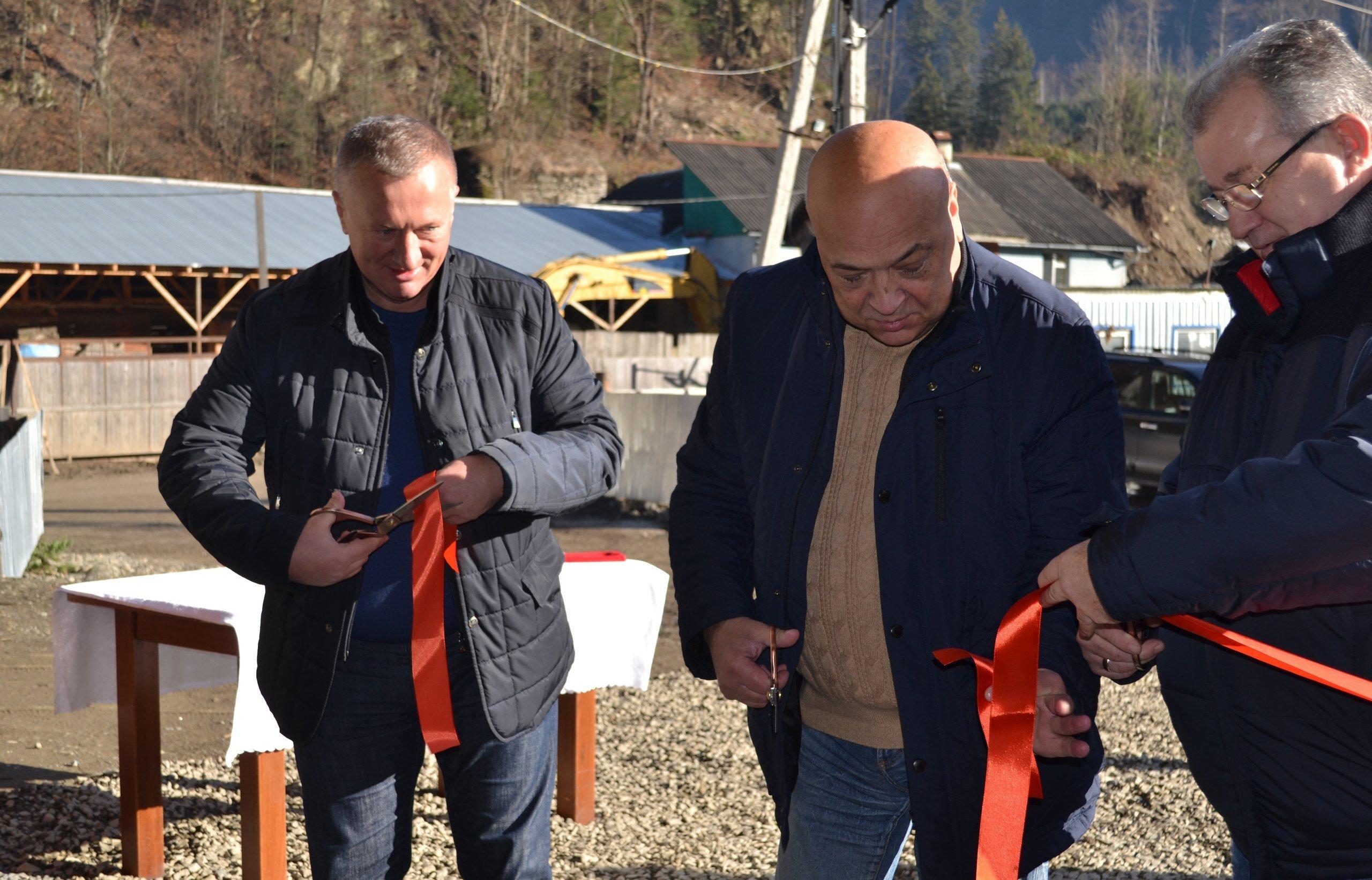 У Лопухові, що на Тячівщині, відкрили нову гідроелектростанцію