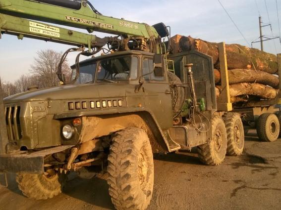 """Поліція затримала водія, який перевозив повний """"Урал"""" деревини із сумнівною накладною"""