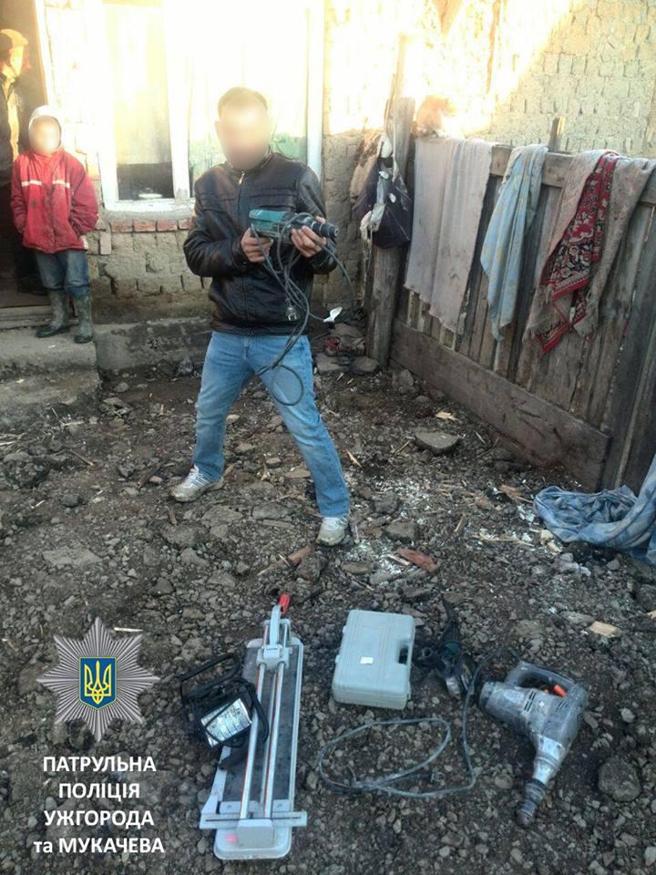 Мукачівські патрульні менш ніж за годину на чисту воду вивели крадія