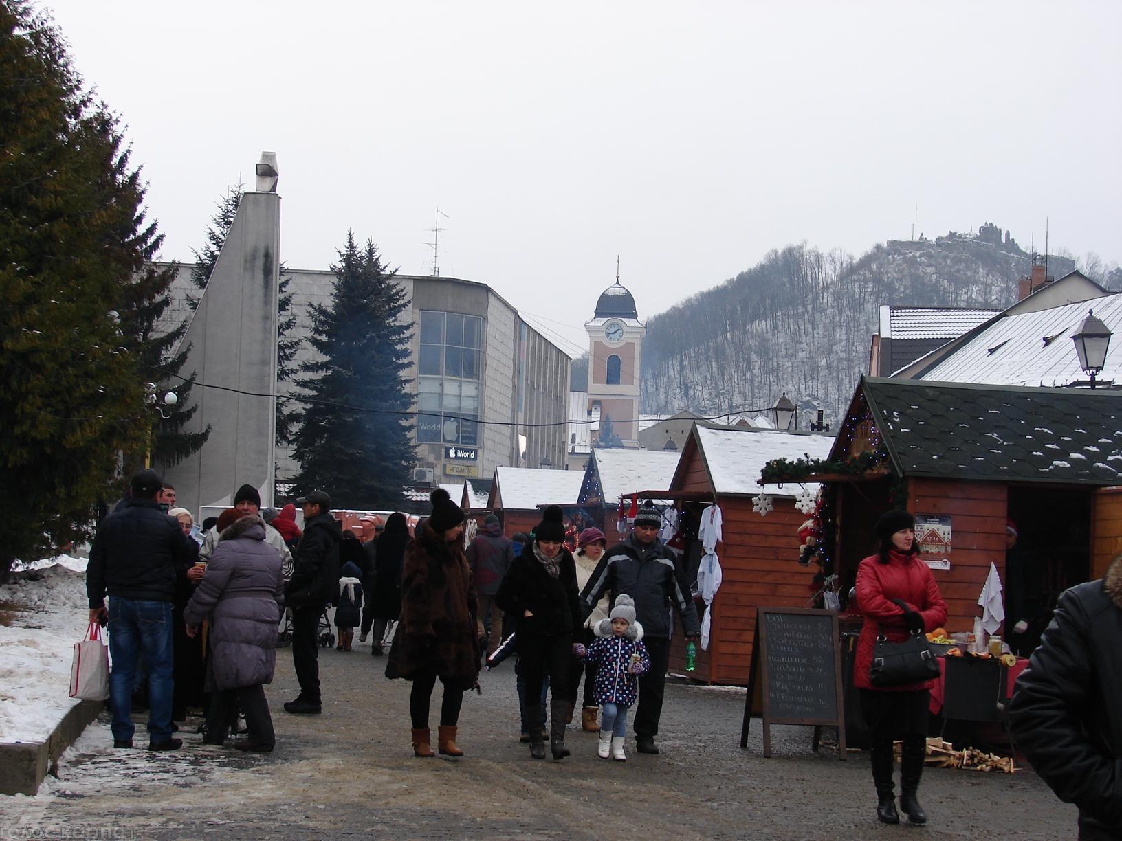 18 грудня у Хусті відкрився різдвяний ярмарок