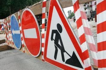 На одному з перехресть Ужгорода проводяться ремонтні роботи