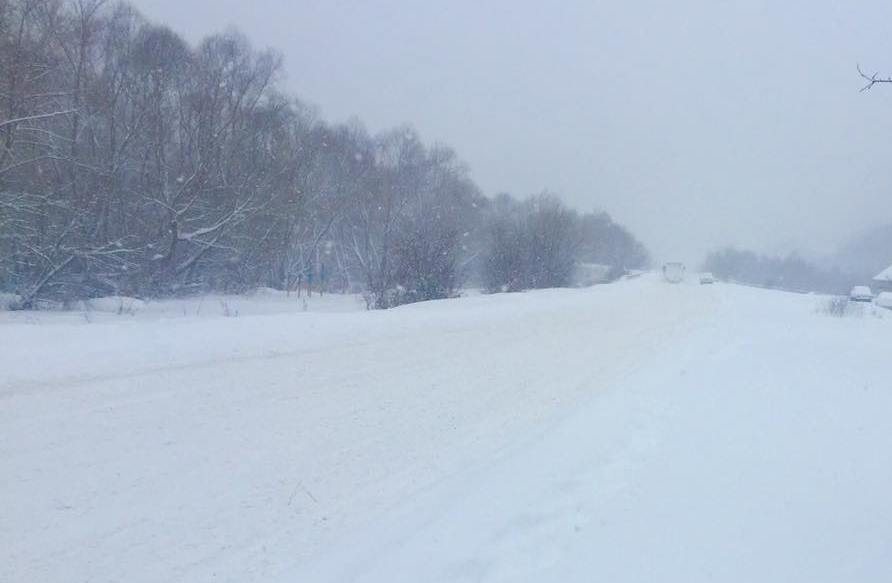 """Через снігопад Абранський та Латірський перевали, що на трасі """"Київ-Чоп"""", не проїзні"""