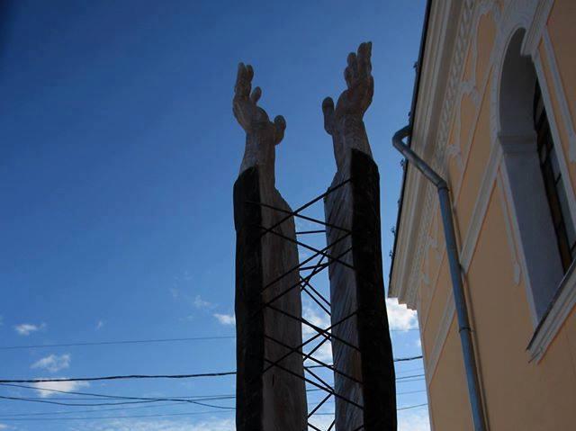 У Мукачеві відкрили скульптуру пам'яті єпископа Лайоша Гулачі