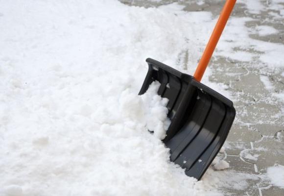 Натовп комунальників під наглядом екс-мера Мукачева прибирають сніг перед його будинком