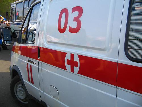 В Ужгороді машина швидкої допомоги потрапила в ДТП