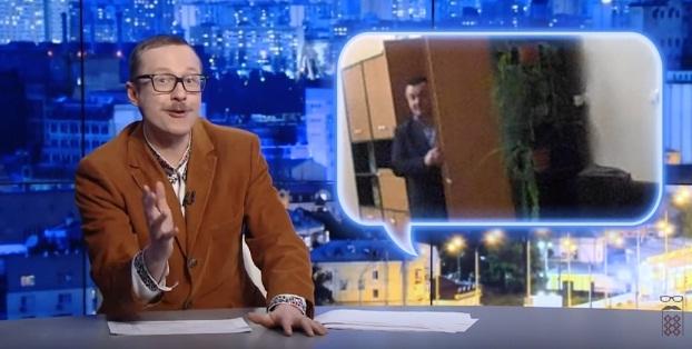 Майкл Щур висміяв начальника Свалявської поліції, який ховався від активістів у шафі