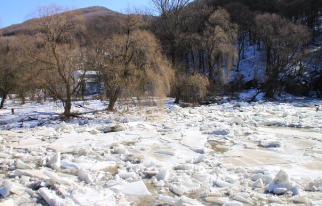 Словаки почали розбирати льодовий затор неподалік Ужгорода важкою технікою
