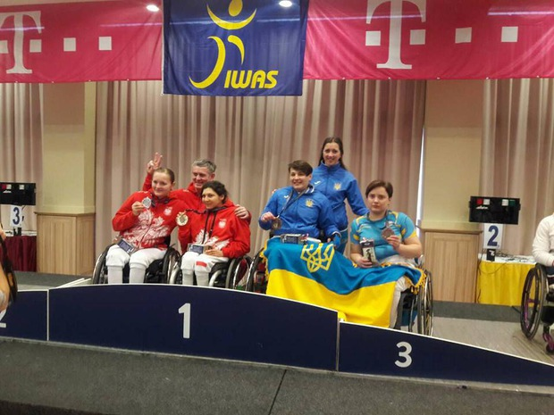 Закарпатка Надія Дьолог стала бронзовою призеркою етапу Кубка світу з фехтування на візках