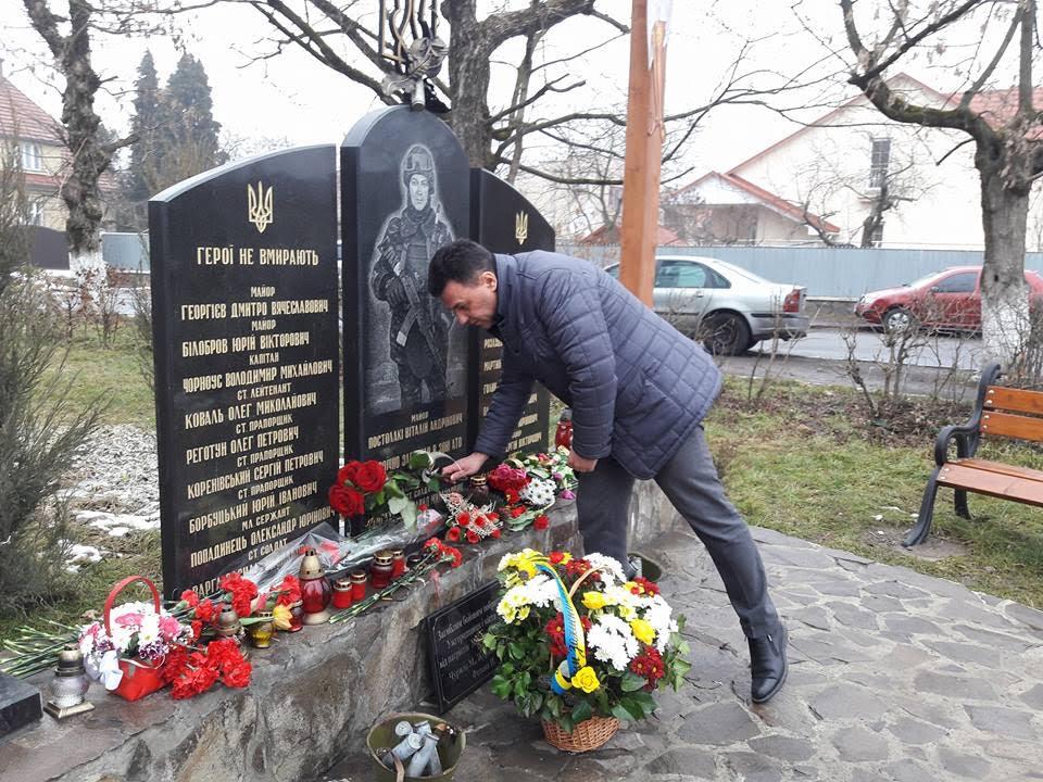 Голова облради вшанував пам'ять полеглих під час боїв за Дебальцево воїнів