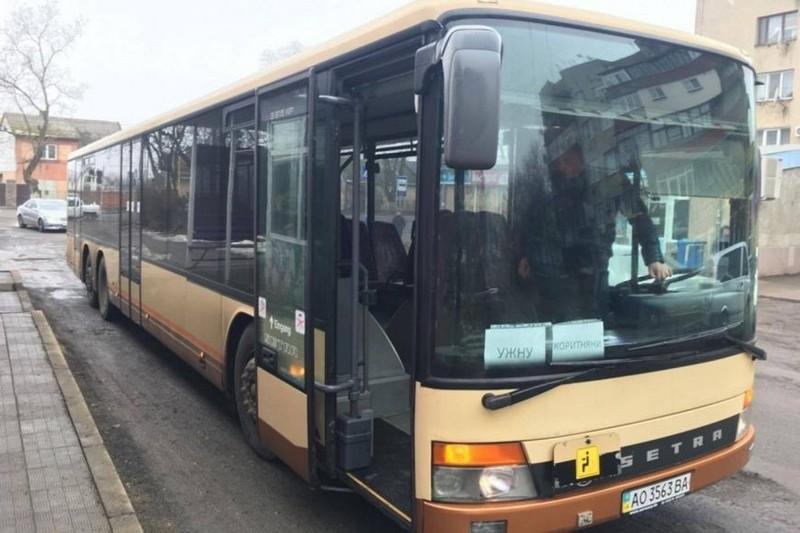 На Ужгородщині почав їздити сучасний автобус