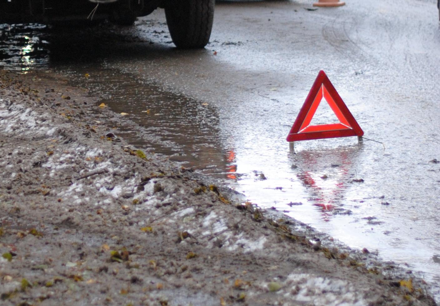 На вулиці Гагаріна в Ужгороді сталась ДТП: не розминулись два автомобілі
