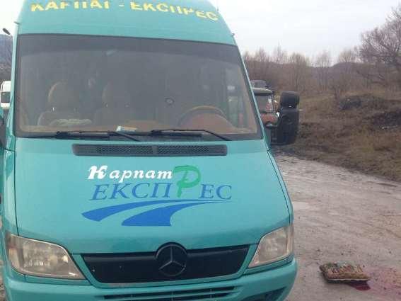 На Іршавщині мікроавтобус наїхав на футбольного вболівальника