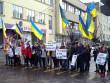 Мітинг у Мукачеві: протестувальники перекрили центральну вулицю міста