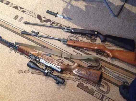 Поліція вилучила у закарпатця гвинтівки та карабін