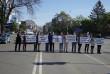 Ужгородські школярі перекрили одну з найбільших вулиць міста
