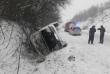 На Закарпатті через складні погодні умови 14 автомобілів з'їхали на узбіччя