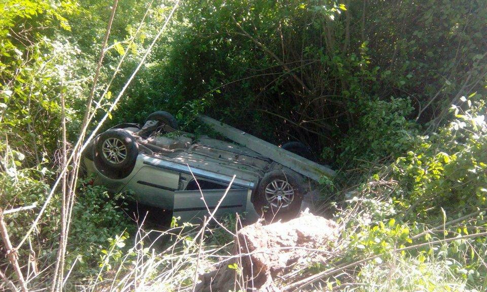 У Виноградові сталася ДТП: автомобіль перекинувся на дах, – ЗМІ