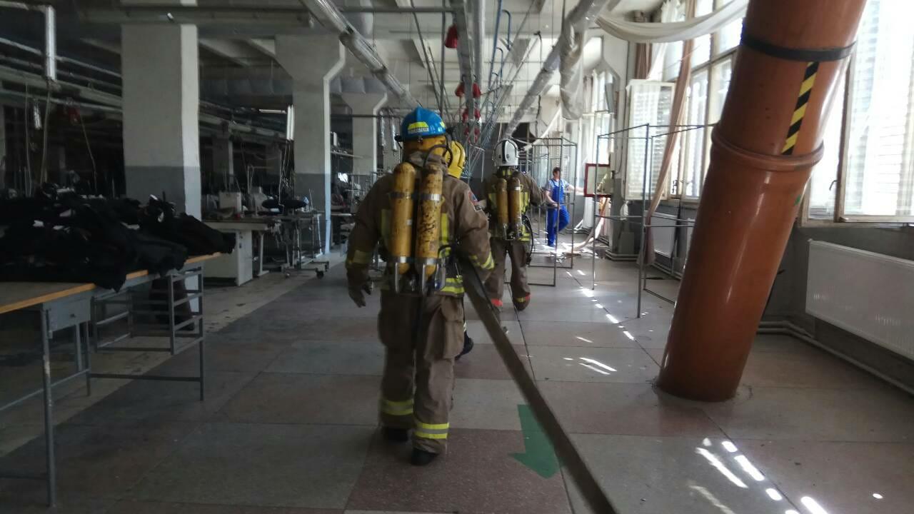 На швейній фабриці пройшли пожежно-тактичні навчання