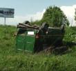 На Хустщині сталась ДТП: перекинувся мікроавтобус