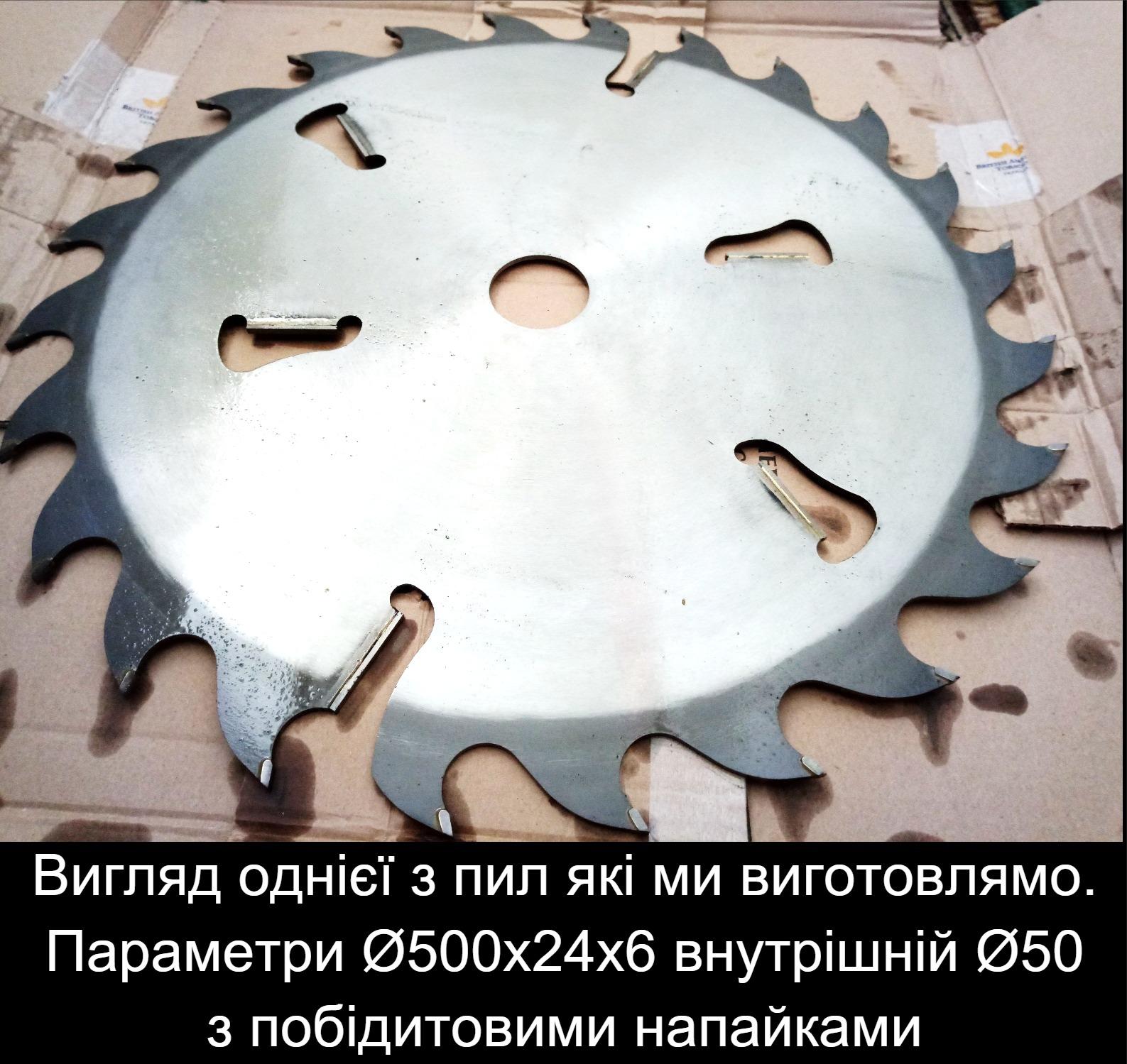 Виробництво та ремонт дискових пил