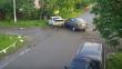 Камера відеоспостереження зафіксувала момент зіткнення двох автівок у Виноградові