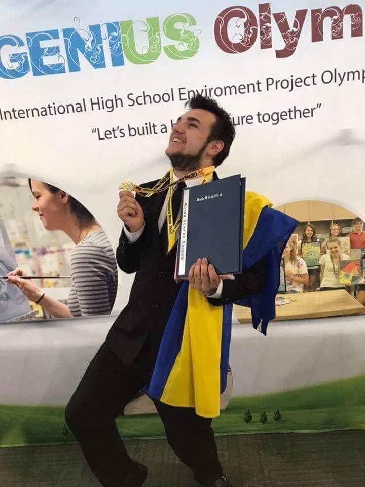 Закарпатський школяр-винахідник Валентин Фречка здобув золоту медаль на престижній олімпіаді у США