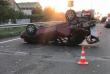 Моторошна аварія поблизу Ужгорода: автомобіль перекинувся на дах