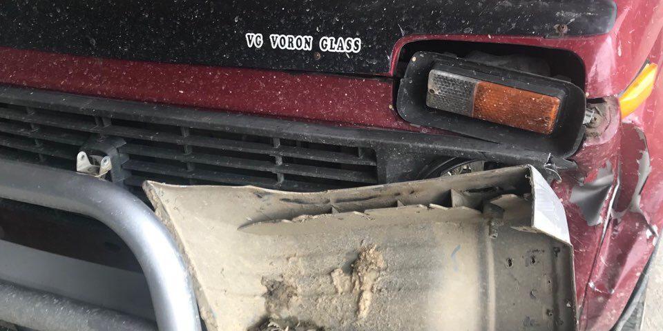 Втікаючи з місця злочину, крадії лісу протаранили автівку лісівника