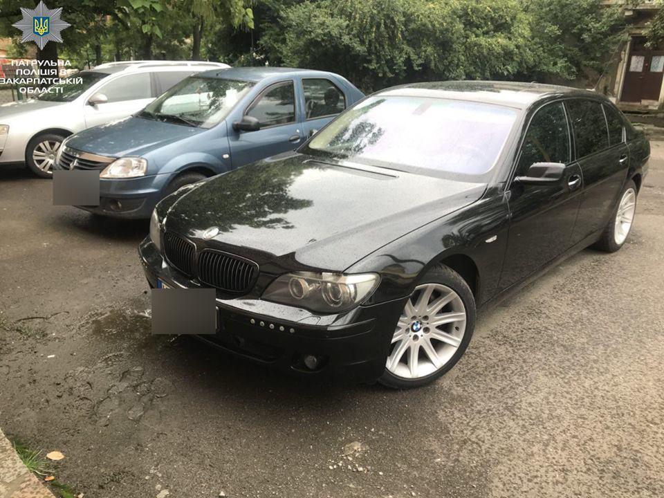 На Закарпатті знайшли автомобіль BMW, який перебував у міжнародному розшуку