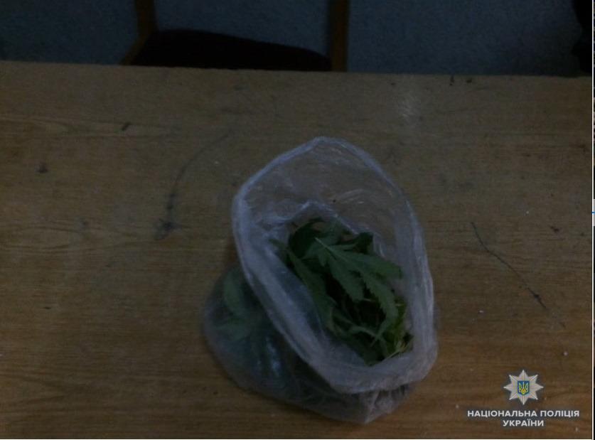 На Хустщині у нетверезого чоловіка правоохоронці виявили ще й наркотики