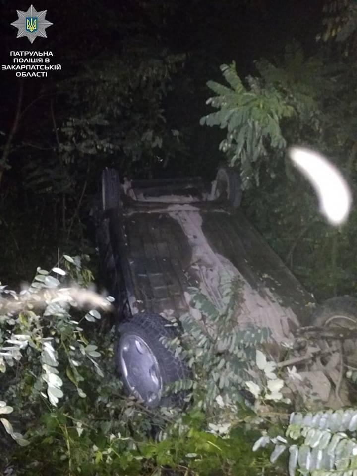 На Виноградівщині сталась ДТП за участі п'яного водія