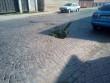 У центрі Мукачева на дорозі утворилось провалля