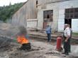 Міжгірські вогнеборці вчилися гасити пожежу на місцевому лісокомбінаті