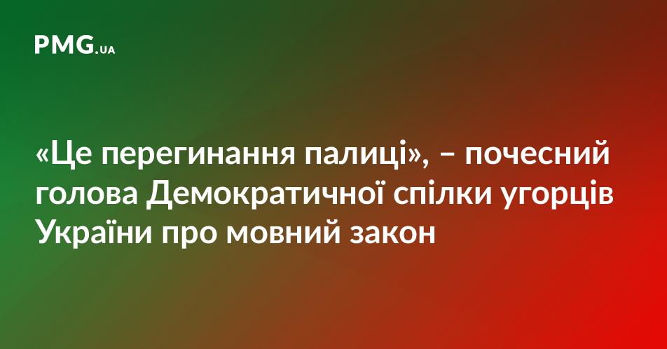 Почесний голова Спілки угорців України застеріг від педагогічної катастрофи на Закарпатті