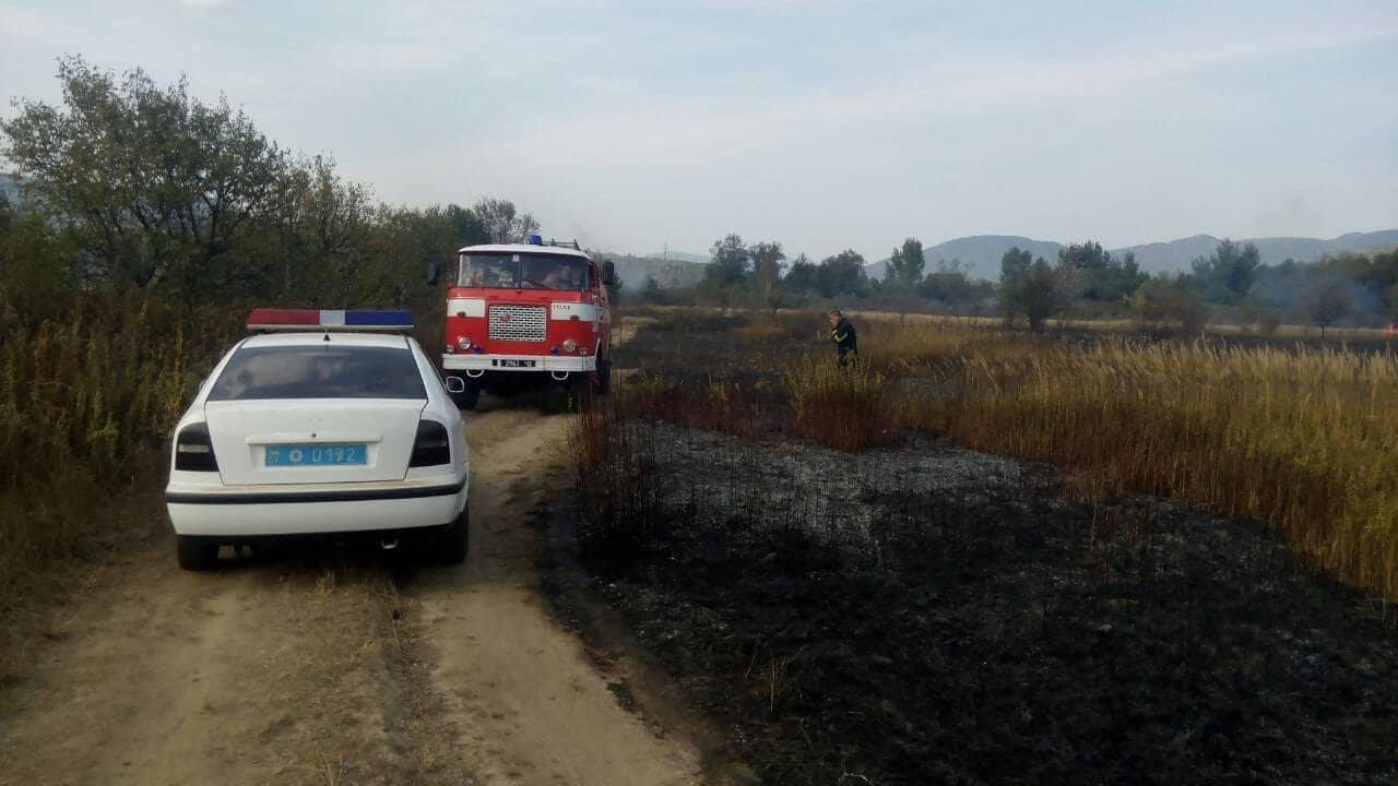 Впродовж вихідних в області сталося багато пожеж