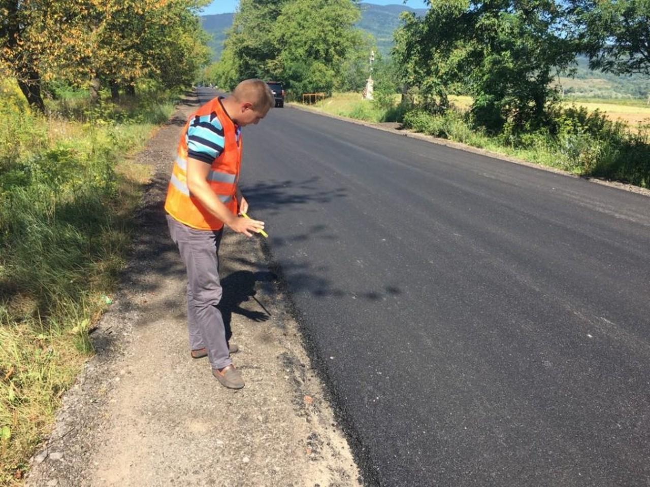 """Завершено капітальний ремонт ділянки дороги """"Свалява – Мукачево"""""""