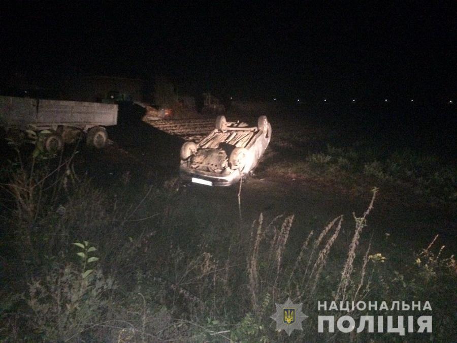 У ДТП в селі Клячаново постраждало четверо людей. Водій був п'яним і перекинув свій автомобіль