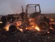 У полі згорів вщент трактор