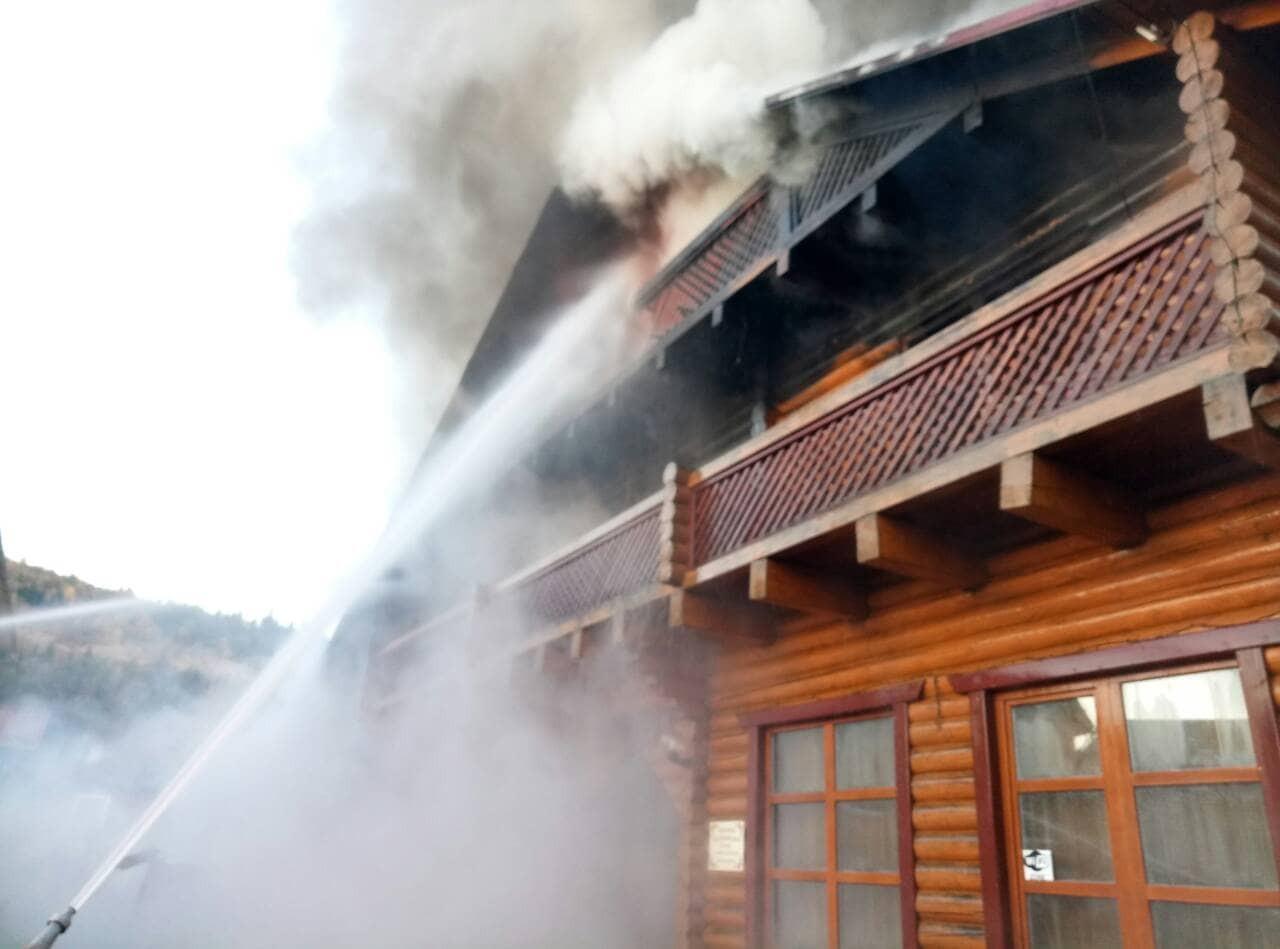 У Воловці горів готельно-ресторанний комплекс Гостинний двір