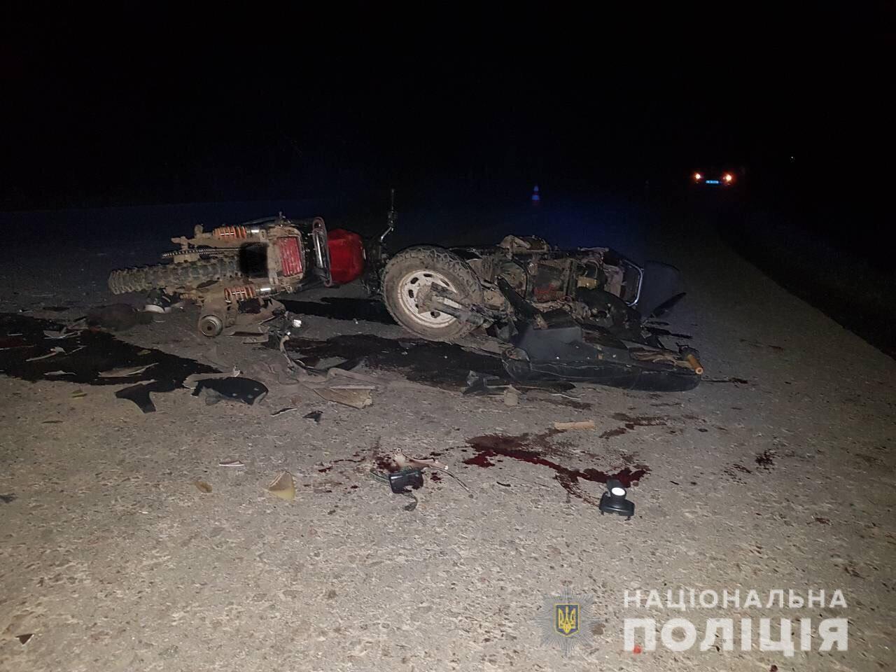 Ввечері у Ясінях, що на Рахівщині, зіткнулися скутер і мотоцикл. Постраждало двоє місцевих мешканців