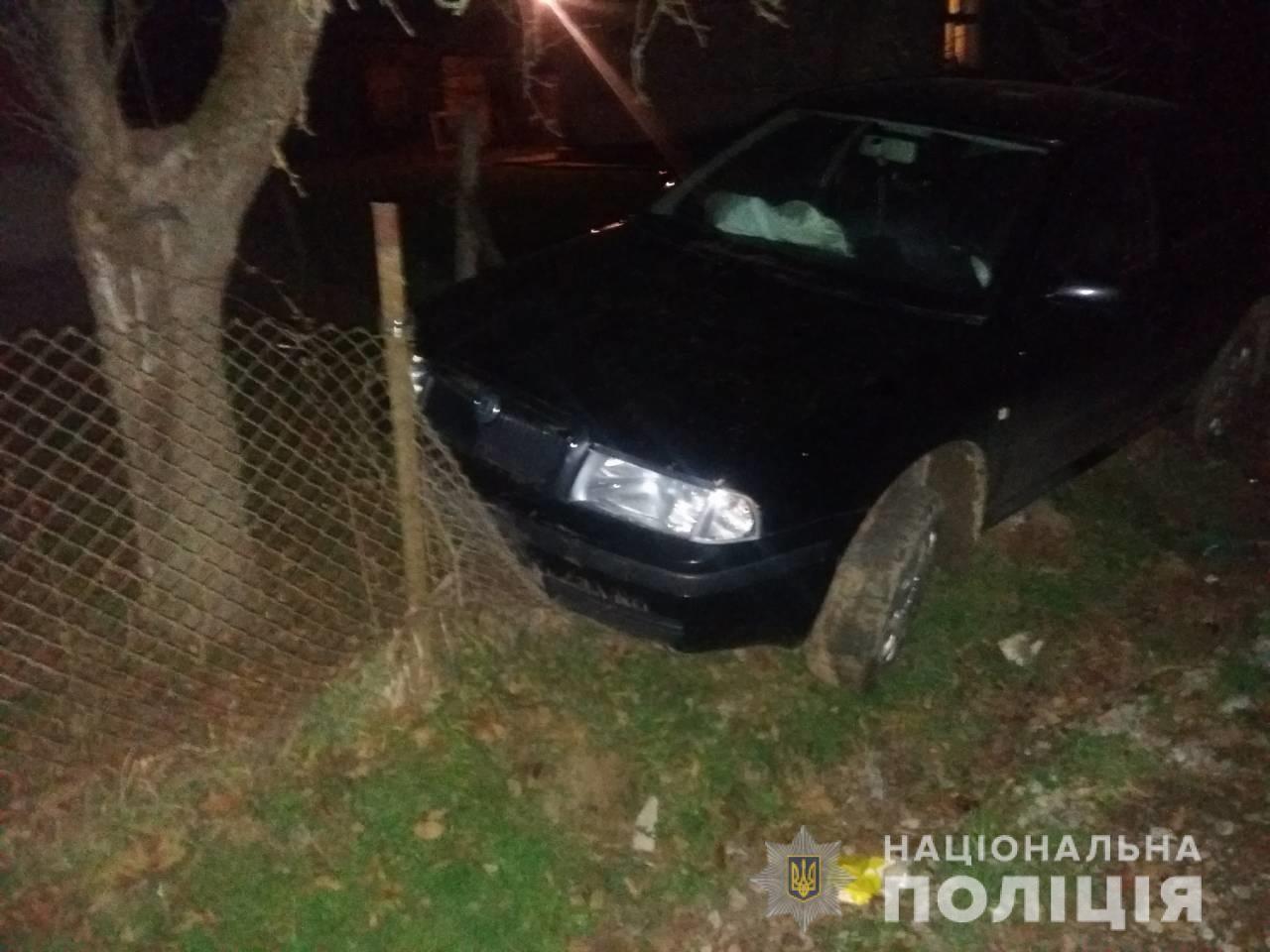 П'яний водій, який тікав від поліцейських у Перечинському районі, скоїв ДТП